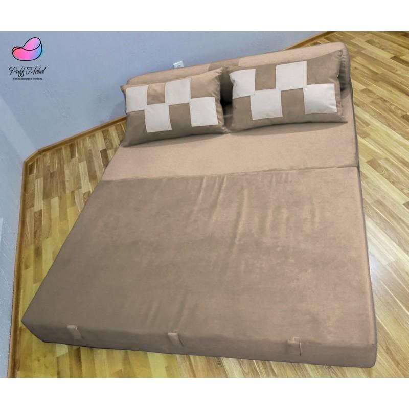 Диван трансформер Sofa Roll Бледно Серо-коричневый