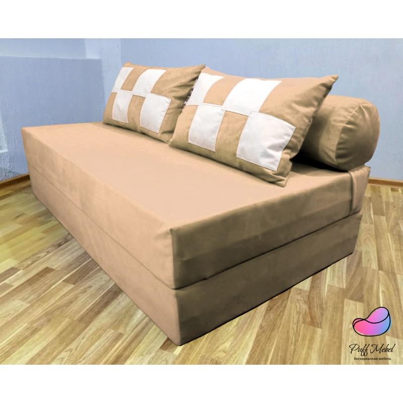 Диван трансформер Sofa Roll Long  Бледно Серо-коричневый