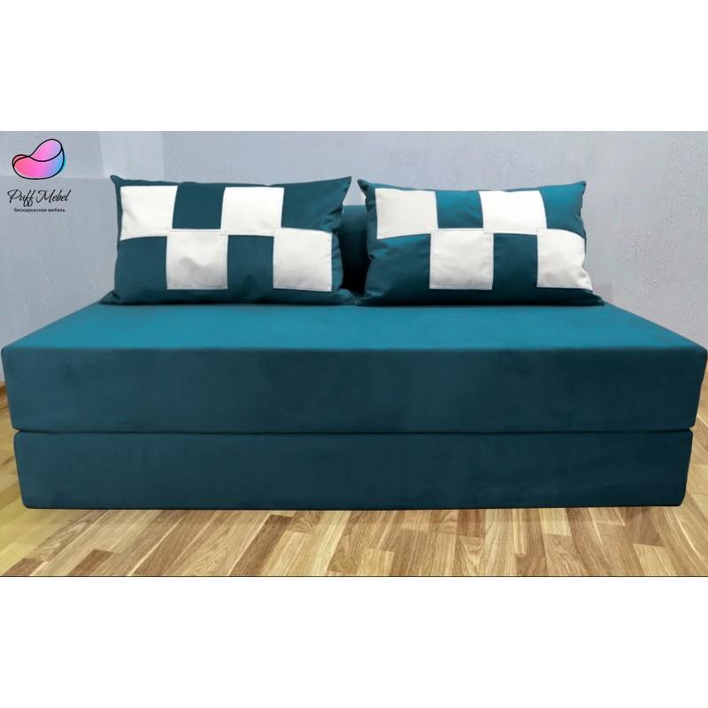 Диван трансформер Sofa Roll Водная синь