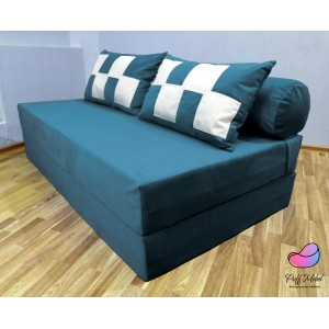 Диван трансформер Sofa Roll Long  Водная синь
