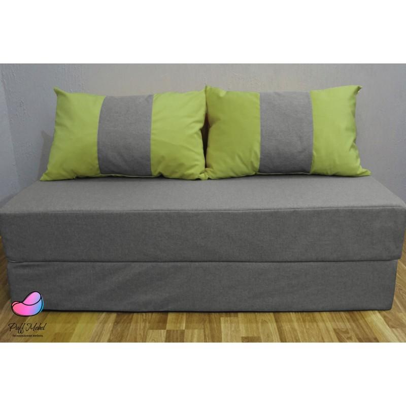 Диван трансформер Sofa Roll Серо-зелёныый