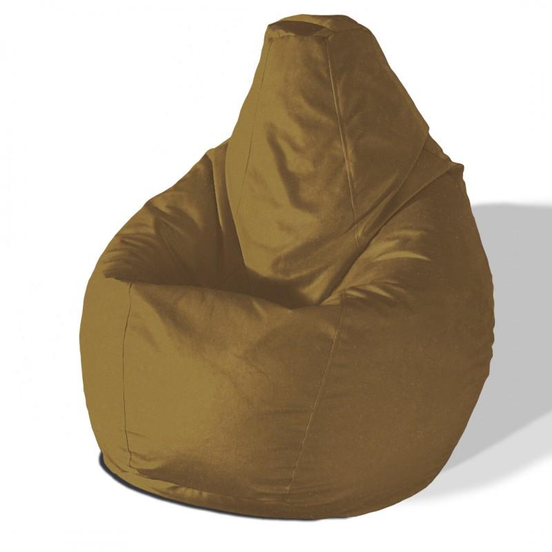 Кресло груша Велюр шоколад