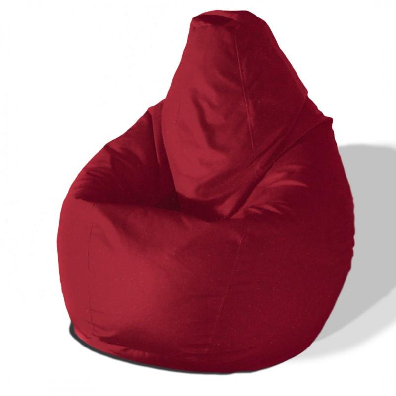 Кресло груша Красный велюр