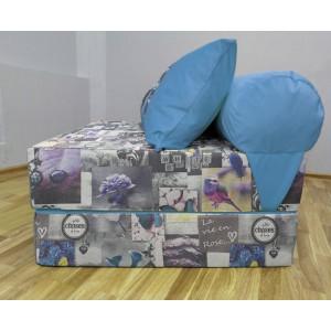 """Диван трансформер Sofa Roll Long  """"Бабочки"""" Велюр"""