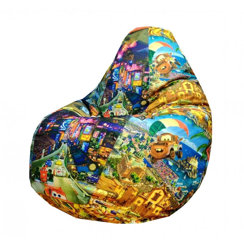 Кресло-мешок груша Молния Маквин (Рогожка)