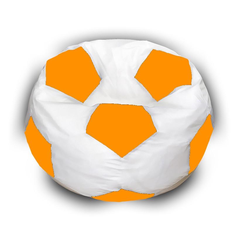 Кресло-мешок Мяч Бело-Оранжевый