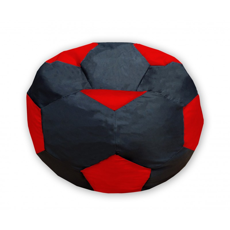 Кресло-мешок Мяч Черно-Красный