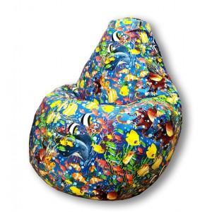 Кресло-мешок груша Рыбки (Велюр)