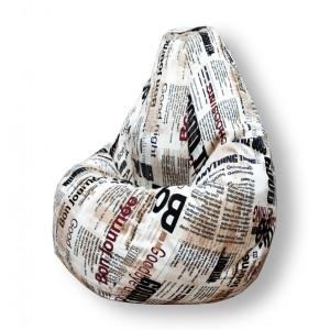 Кресло-мешок Груша Газета ( Жаккард )