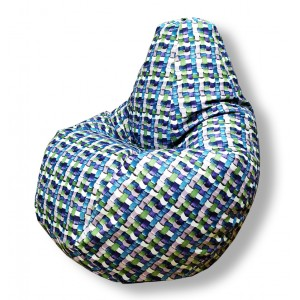 Кресло-мешок груша Фиолетовая Андорра (Рогожка)