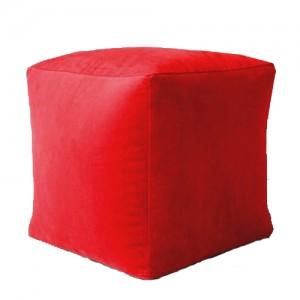 Пуф Кубик Красный ( Велюр )