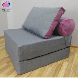 Диван-трансформер Sofa Roll Серый