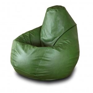 Кресло-мешок Груша Зеленая кожа ( Экокожа )
