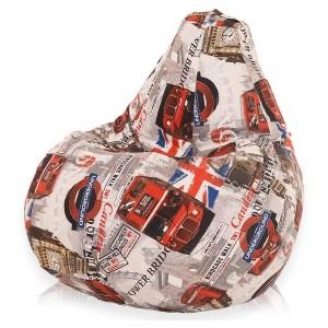 Кресло-мешок Груша Лондон Бус ( Жаккард )