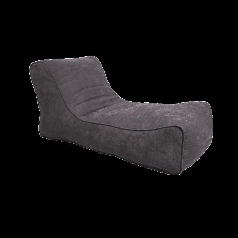 Кресло-мешок Лежак Серый ( Рогожка)