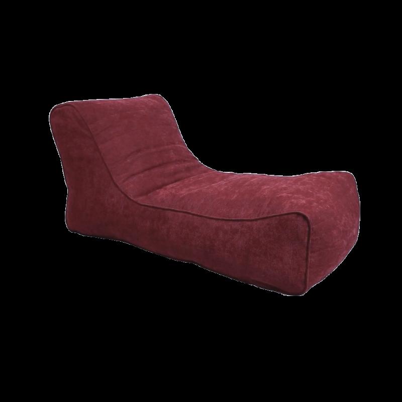 Кресло-мешок Лежак Бордовый (Рогожка)