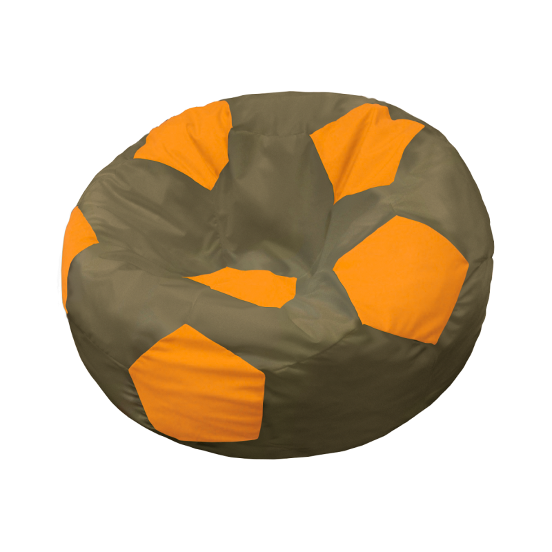 Кресло-мешок Мяч  Шоколадно-Оранжевый
