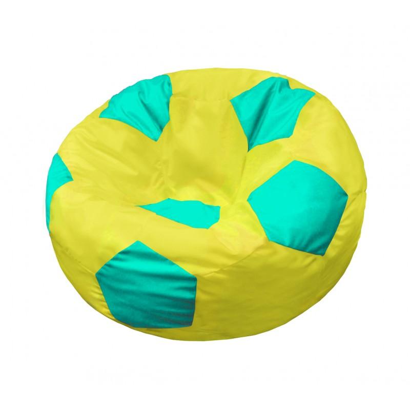 Кресло-мешок Мяч  Желто-Бирюзовый