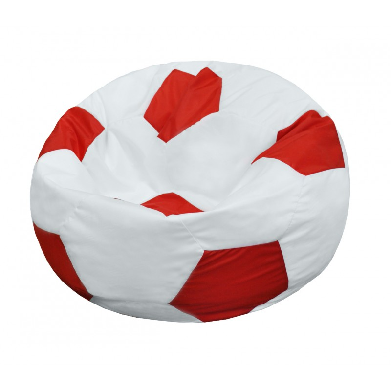 Кресло-мешок Мяч Бело-Красный