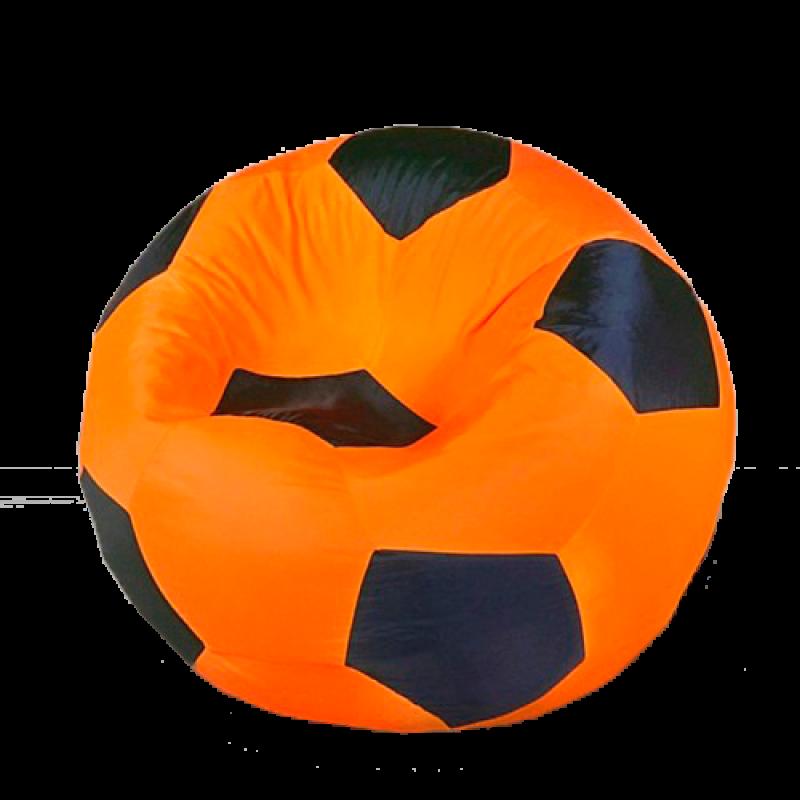 Кресло-мешок Мяч Черно-Оранжевый