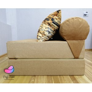 Диван-трансформер Sofa Roll Long  Рогожка цвет Бежевый