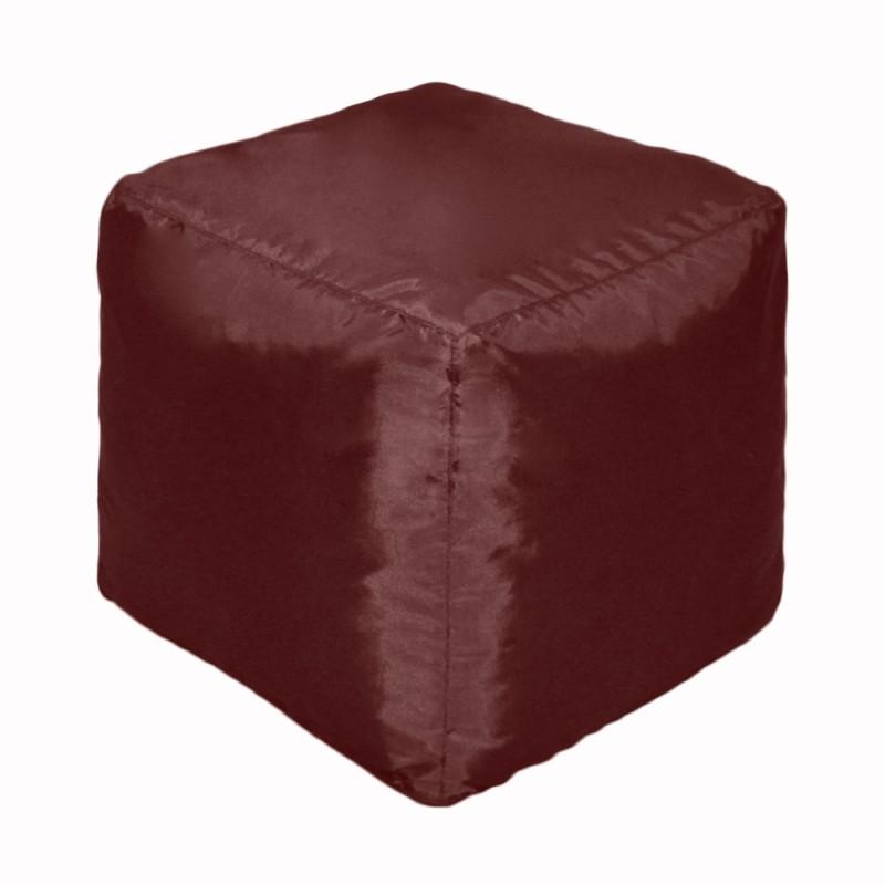 Пуф Кубик Бордовый