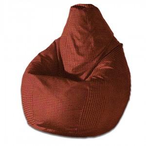 Кресло груша Красно-Золотое
