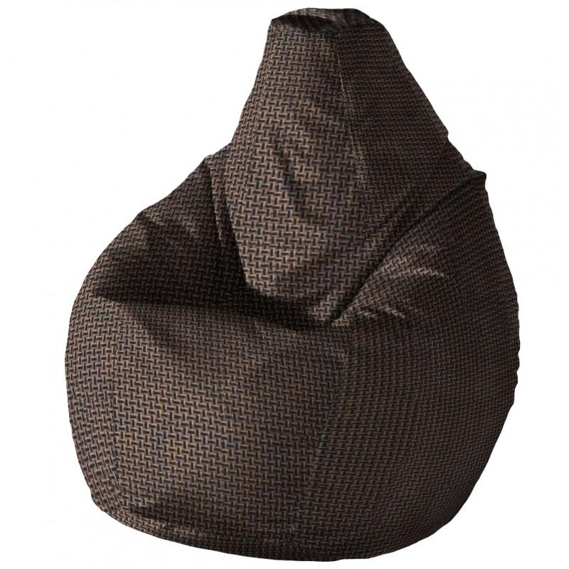 Кресло груша Черно-Белое