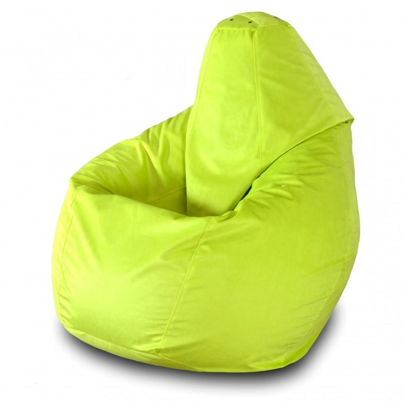Кресло груша Желтый велюр