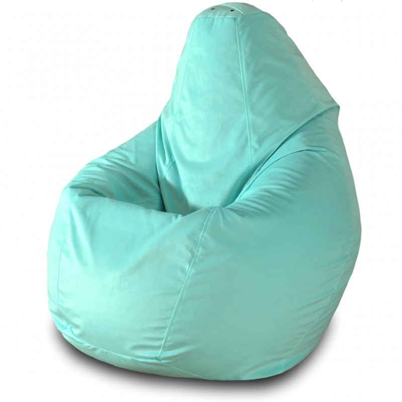 Кресло груша Мятный велюр