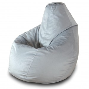 Кресло груша Серый велюр