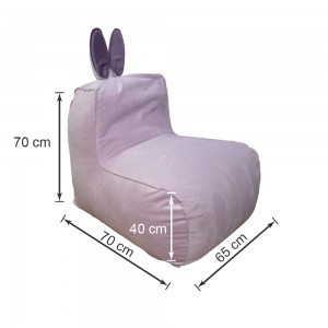 Кресло-мешок Заяц Фиолетовый (Велюр)