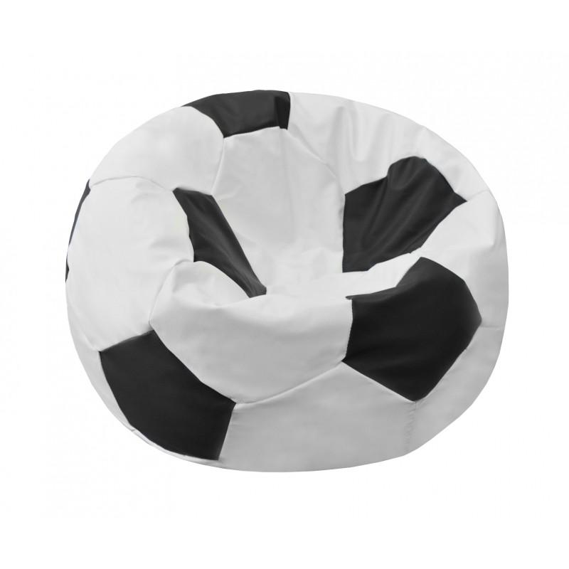 Кресло-мешок Мяч Бело-чёрный