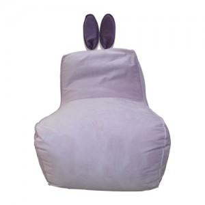 Кресло-мешок Заяц Бледно-фиолетовый (Велюр)